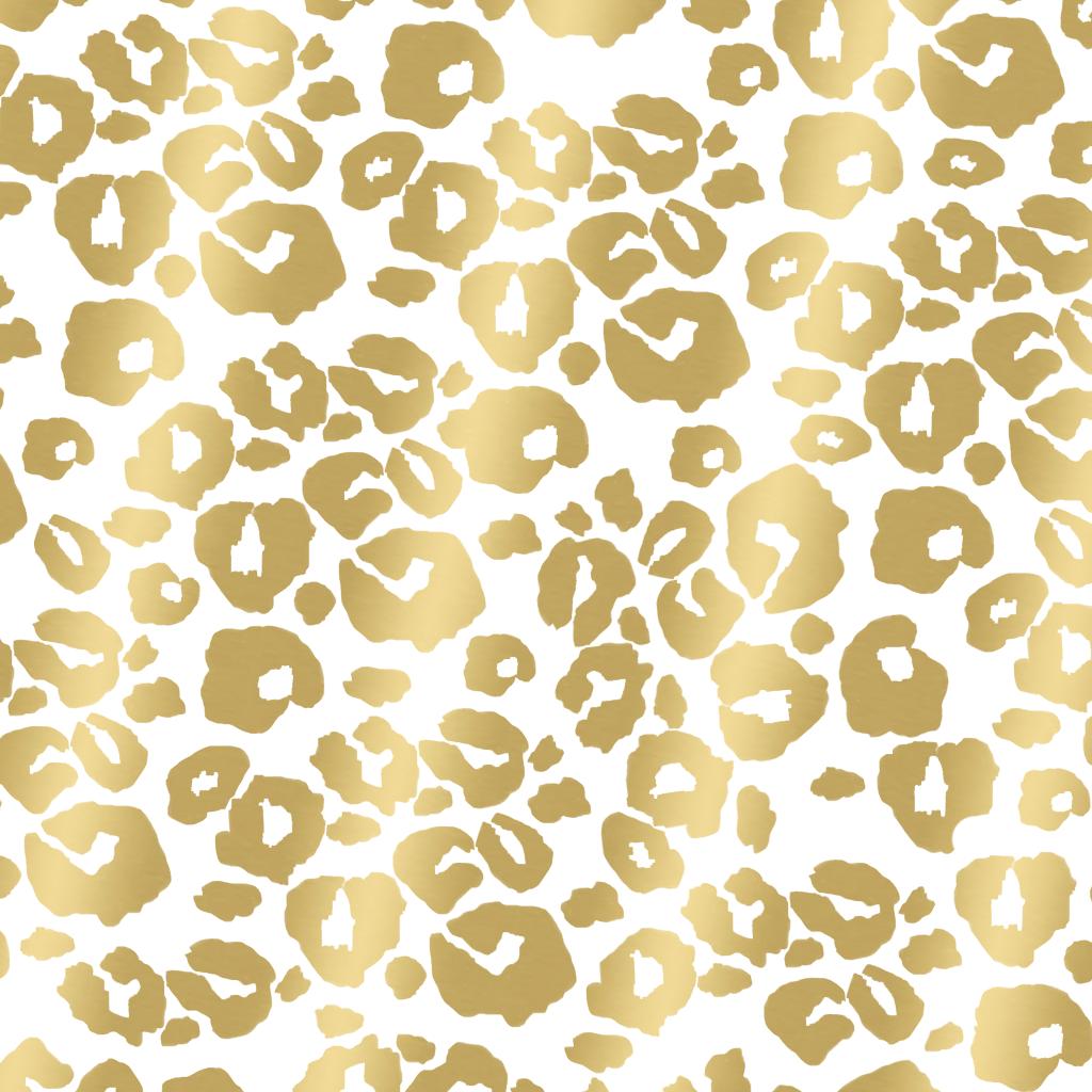 背景ヒョウ柄 ゴールドプリント壁紙 1024x1024 Wallpapertip