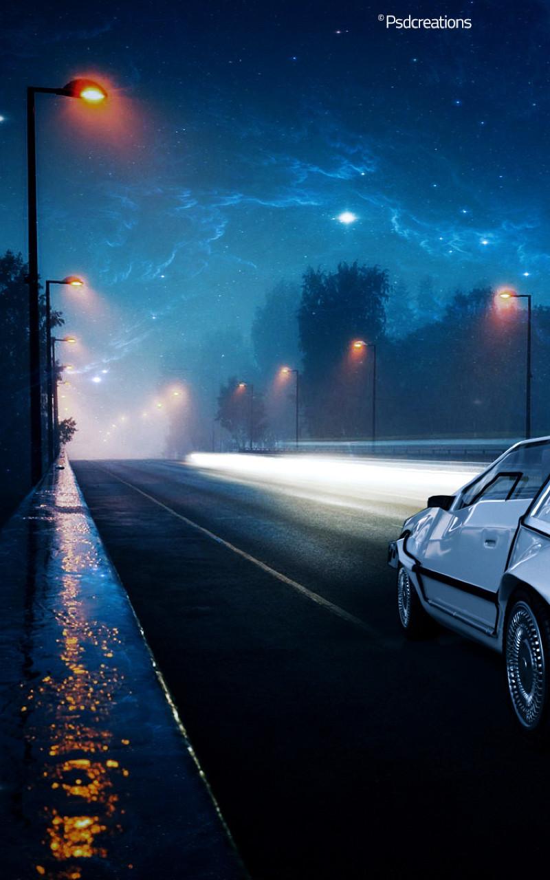 未来に戻るiphone 未来の車の壁紙 800x1280 Wallpapertip