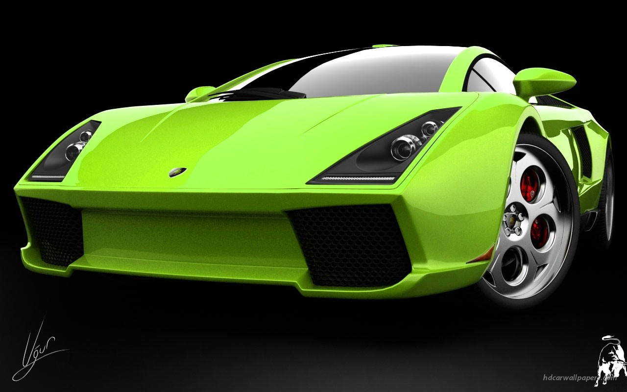 Lamborghini Wallpaper Green Car 1280x800 Download Hd Wallpaper Wallpapertip