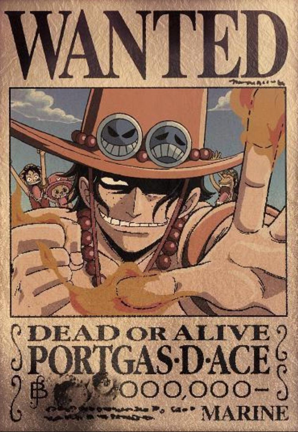 One Piece Wanted Poster Ace 976x1412 Download Hd Wallpaper Wallpapertip