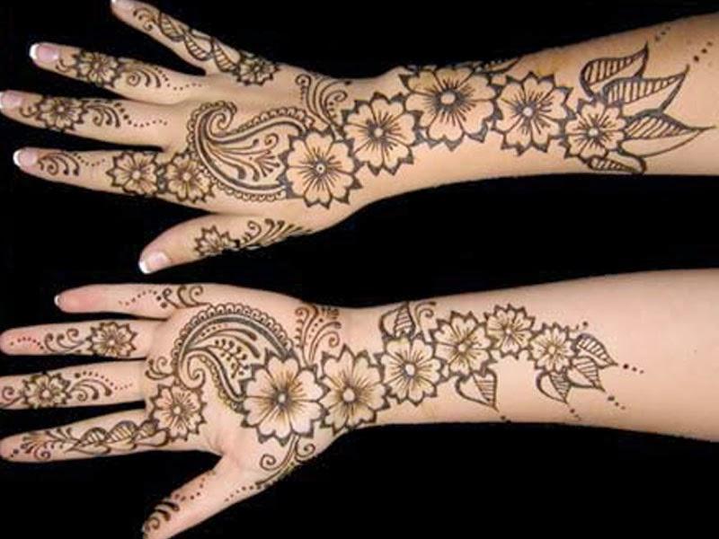 full hand arabic mehndi design easy