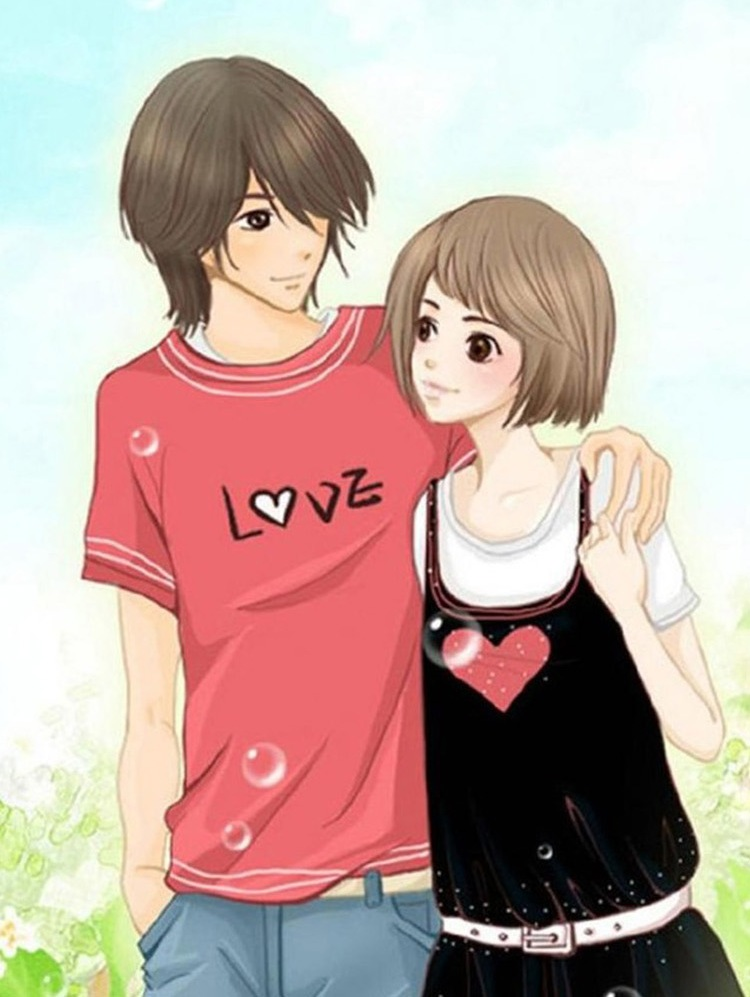 Cute Love Cartoon Wallpaper True Love Boy Girl Ladka Sweet Couple Wallpaper Love 750x997 Download Hd Wallpaper Wallpapertip