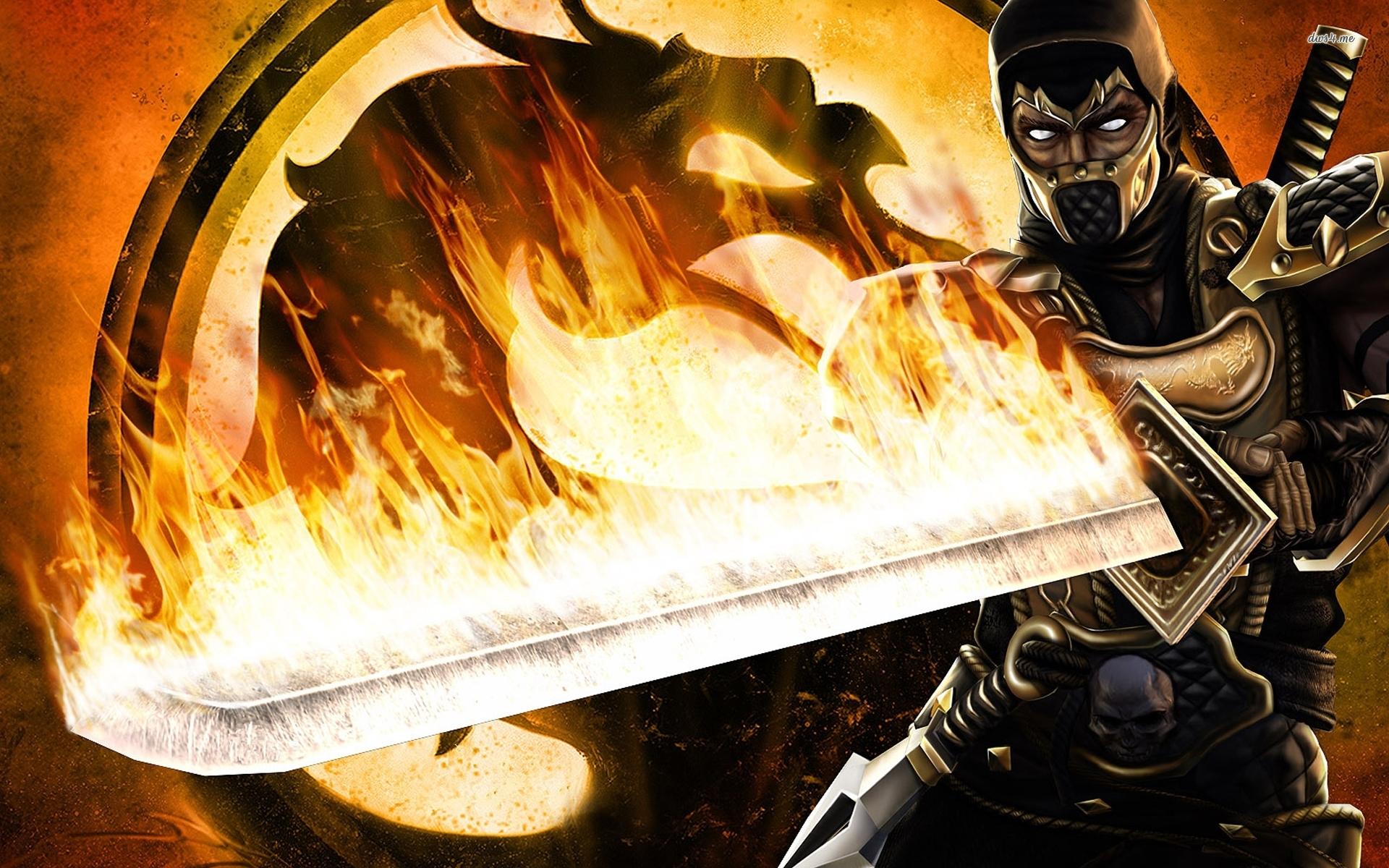 Scorpion Mortal Kombat 1 1920x1200 Download Hd Wallpaper