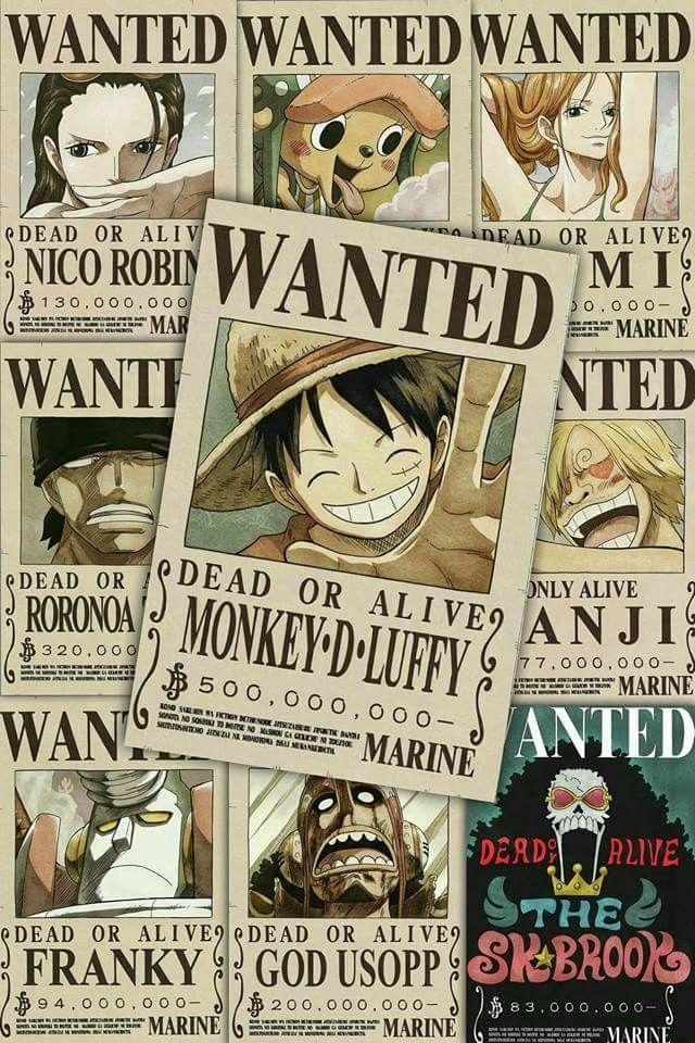 One Piece Wanted Mugiwara 640x960 Download Hd Wallpaper Wallpapertip