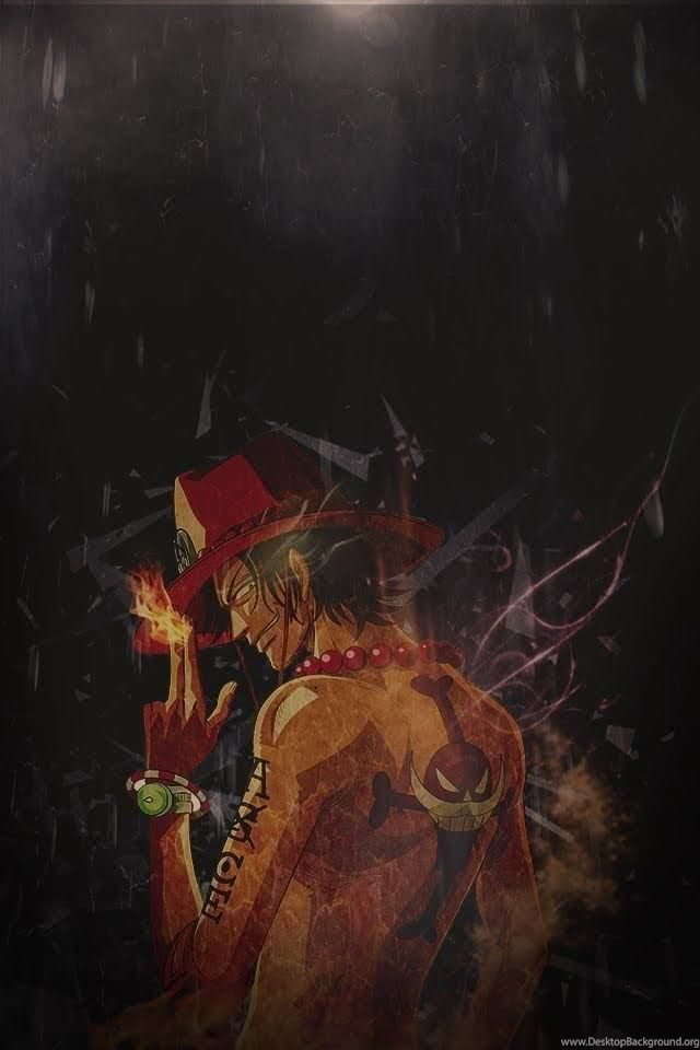 One Piece - Ace One Piece Wallpaper Iphone Black - 640x960 ...
