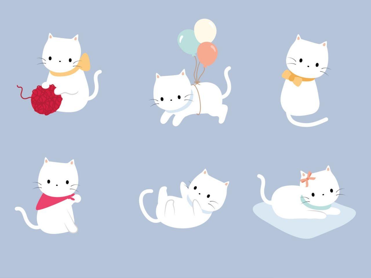 シンプルなかわいい猫イラスト ダウンロード壁紙kucing 1280x960 Wallpapertip