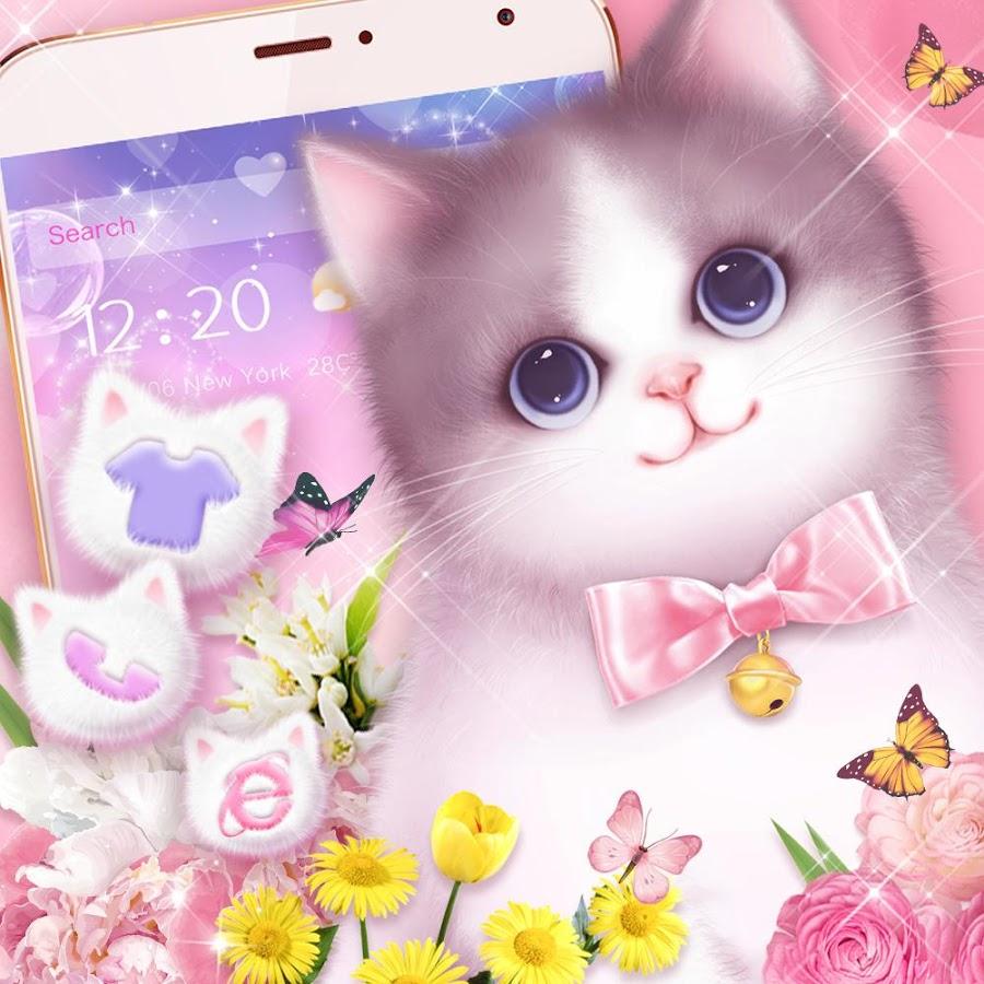 kartun kucing lucu pink   Tapete kucing Anggora Persia Bergerak ...