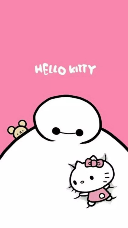 Background Hello Kitty Wallpaper Hp Android Baymax Hello Kitty 422x750 Download Hd Wallpaper Wallpapertip