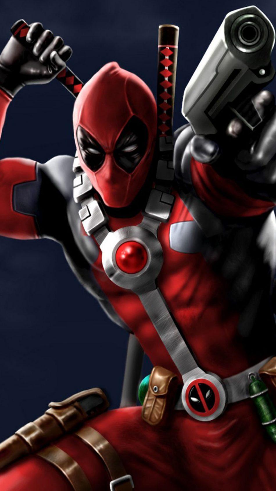 Deadpool 2 Digital Paint Hd Mobile Wallpaper 950x1689 Download Hd Wallpaper Wallpapertip