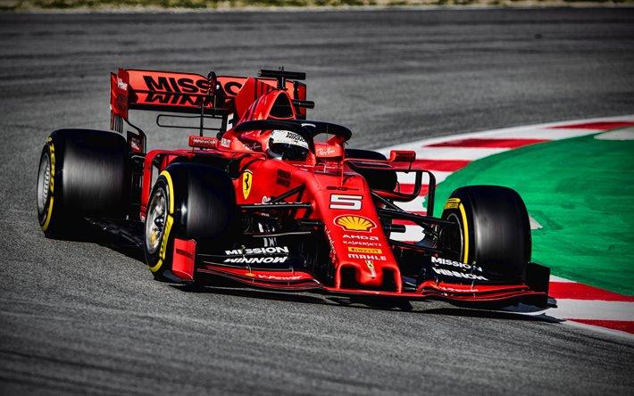 Ferrari 2019 F1 Voiture Fond D Ecran Vettel 710x444 Wallpapertip