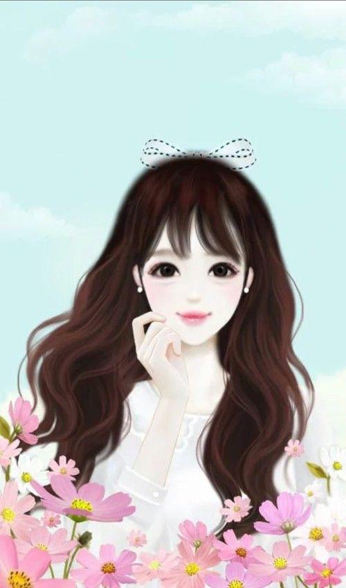 Cute Korean Anime Girl 500x849 Download Hd Wallpaper Wallpapertip