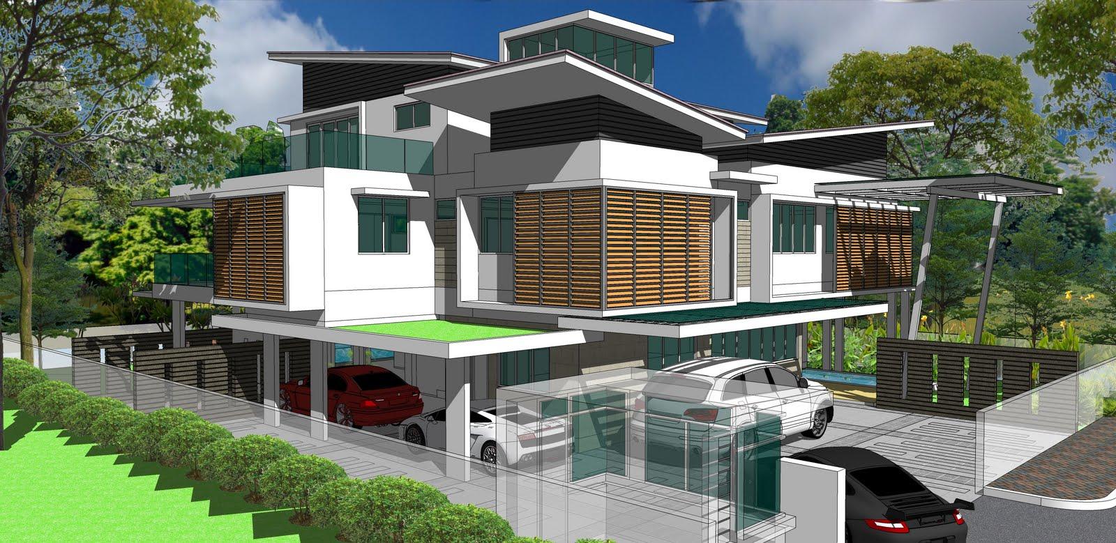 Bungalow House Design Malaysia 25711 Wallpapers Home Bungalow Malaysia Modern Design 1600x779 Download Hd Wallpaper Wallpapertip
