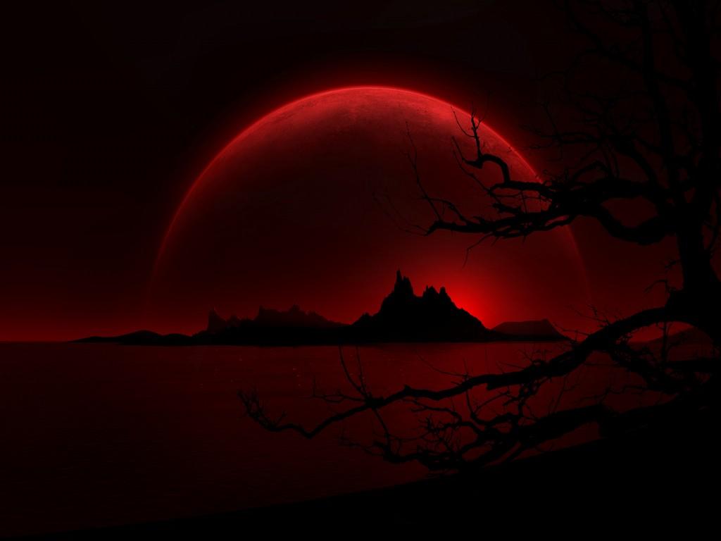 cielo rosso scuro di notte - fantastici sfondi neri e rossi - 1024x768 -  WallpaperTip