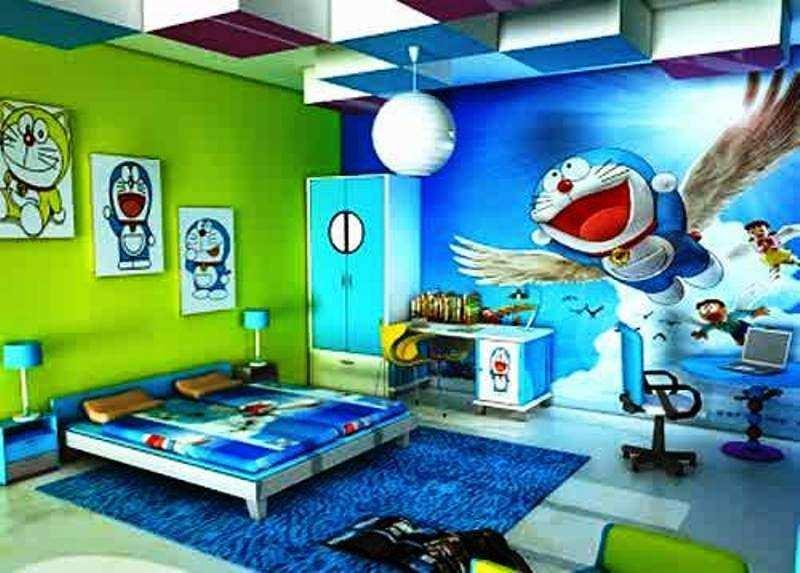 "Contoh Desain Kamar Tidur Anak Laki Laki Tema Doraemon Å""† Å•¦ A Ť¢ ƈ¿é–"" 800x573 Download Hd Wallpaper Wallpapertip"