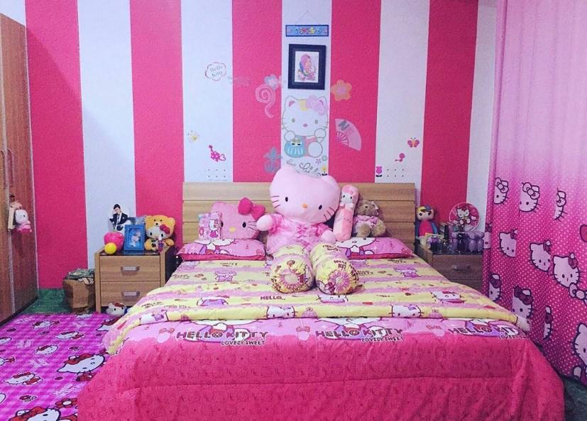 Desain Kamar Tidur Hello Kitty Terbaru Dekorasi Kamar Hello Kitty 827x594 Download Hd Wallpaper Wallpapertip
