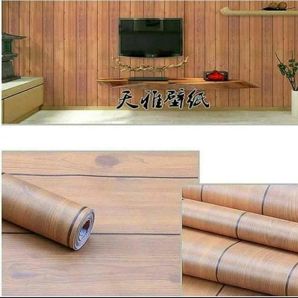 Wallpaper Dinding Kayu Coklat - Stiker Dinding Motif Kayu ...