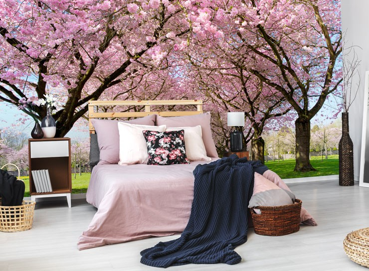 Inspirasi Background Wallpaper Dinding Untuk Menciptakan Japanese Cherry Blossom Bedroom 740x544 Download Hd Wallpaper Wallpapertip