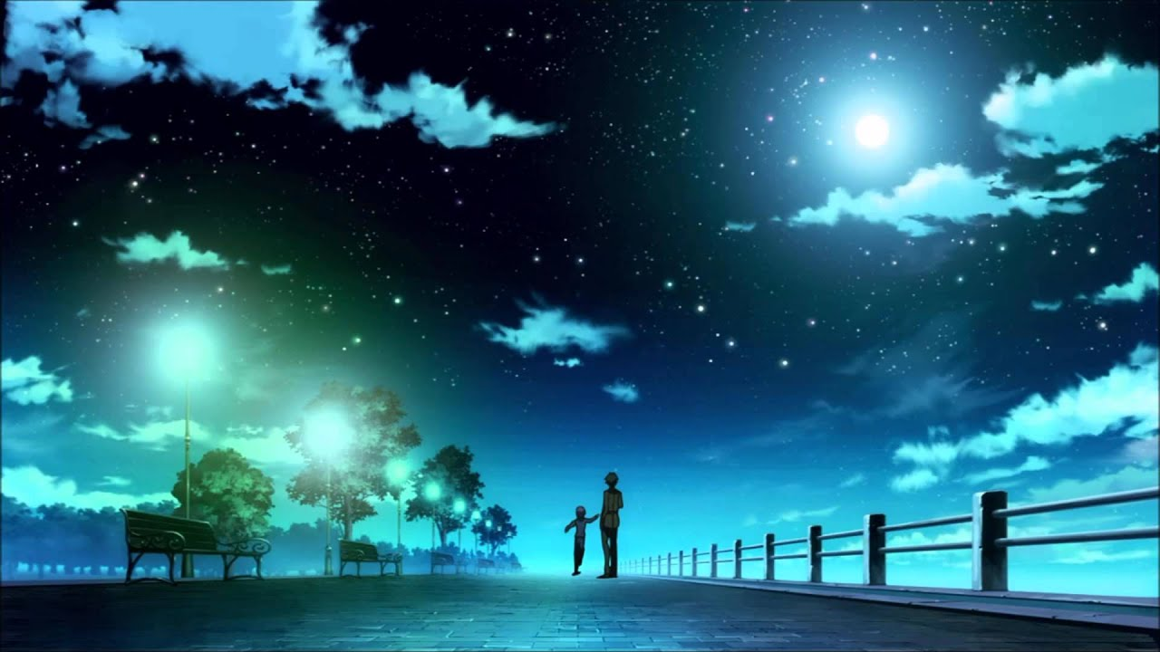 夜壁紙アニメ 夜空の壁紙19x1080 1280x7 Wallpapertip