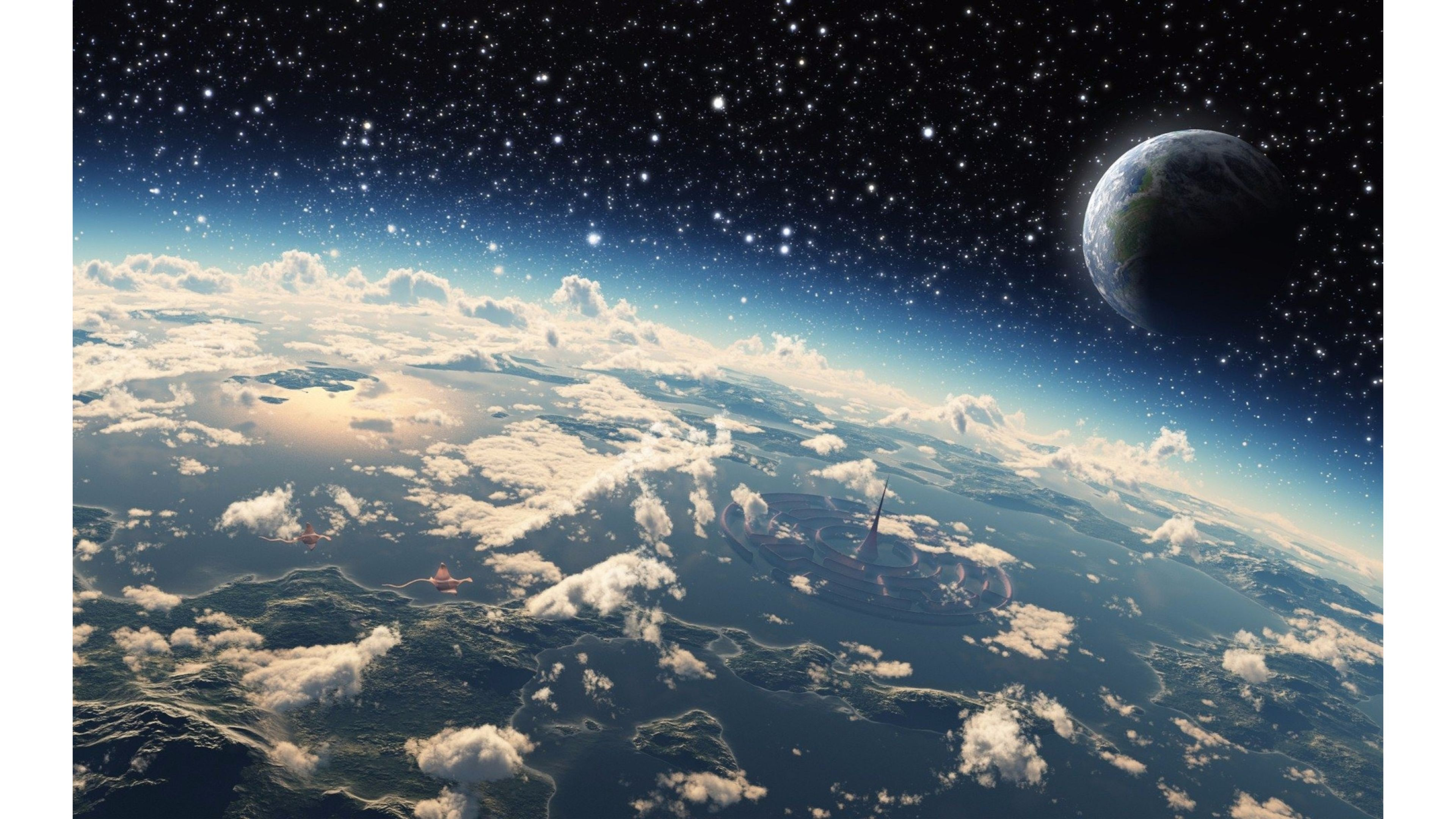 4k Resolution Space 4k 3840x2160 Download Hd Wallpaper Wallpapertip