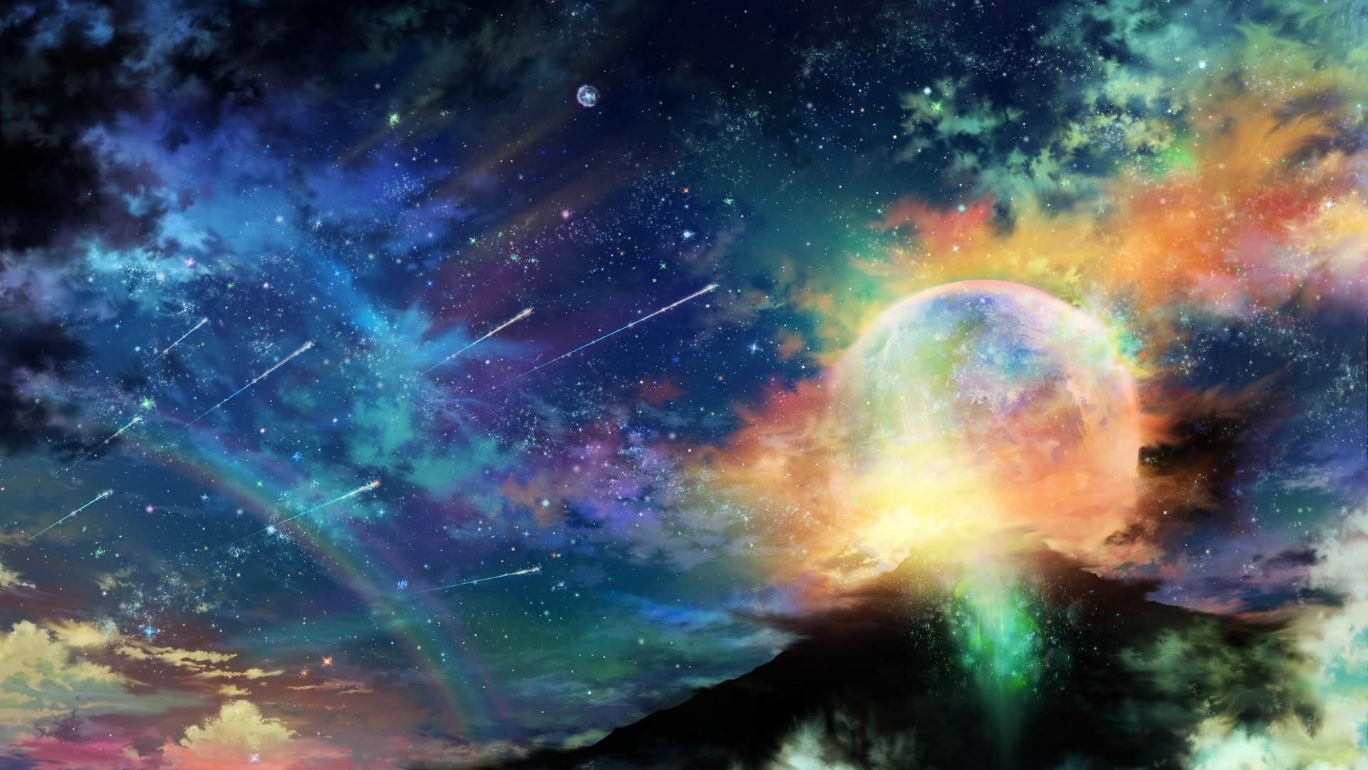Colorful Space Landscape Wallpaper Colorful Galaxy Wallpaper Hd 804x452 Download Hd Wallpaper Wallpapertip