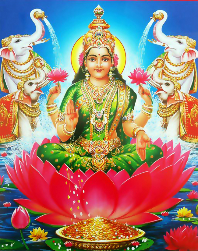 Godess Lakshmi Devi Hd Wallpapers Gaja Lakshmi 650x824 Download Hd Wallpaper Wallpapertip