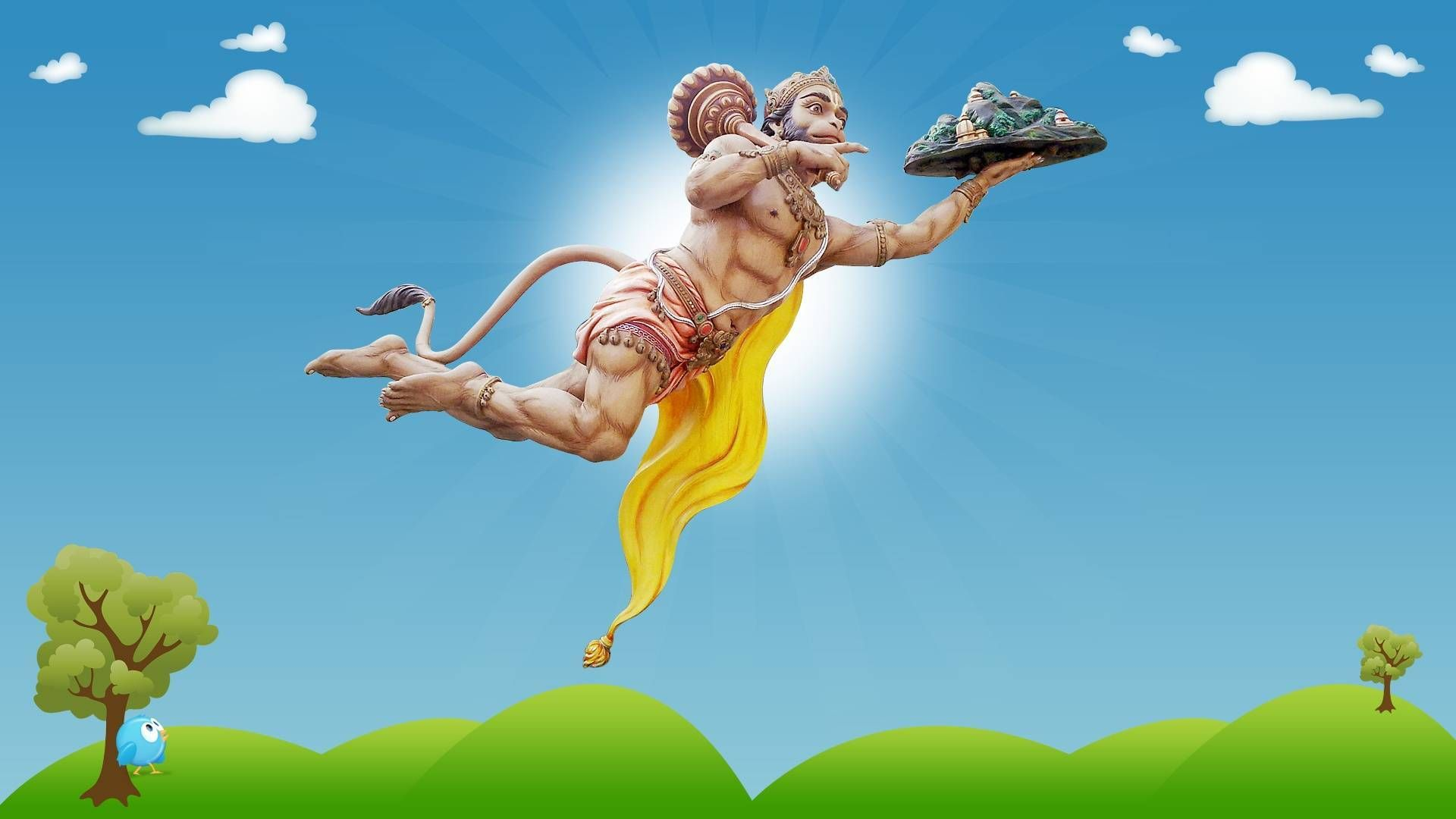 Hanuman Wallpaper 3d Flying Hanuman Images Full Hd 1920x1080 Download Hd Wallpaper Wallpapertip