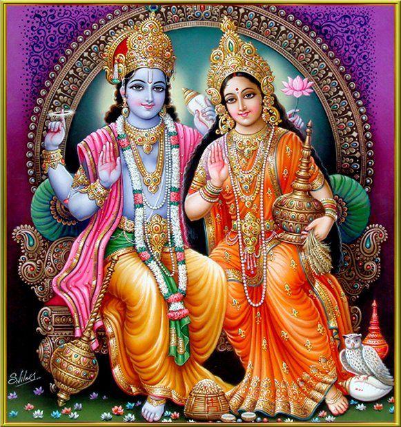 Vishnu Laxmi Liebe Lord Vishnu Und Lakshmi Tapeten 581x620 Wallpapertip