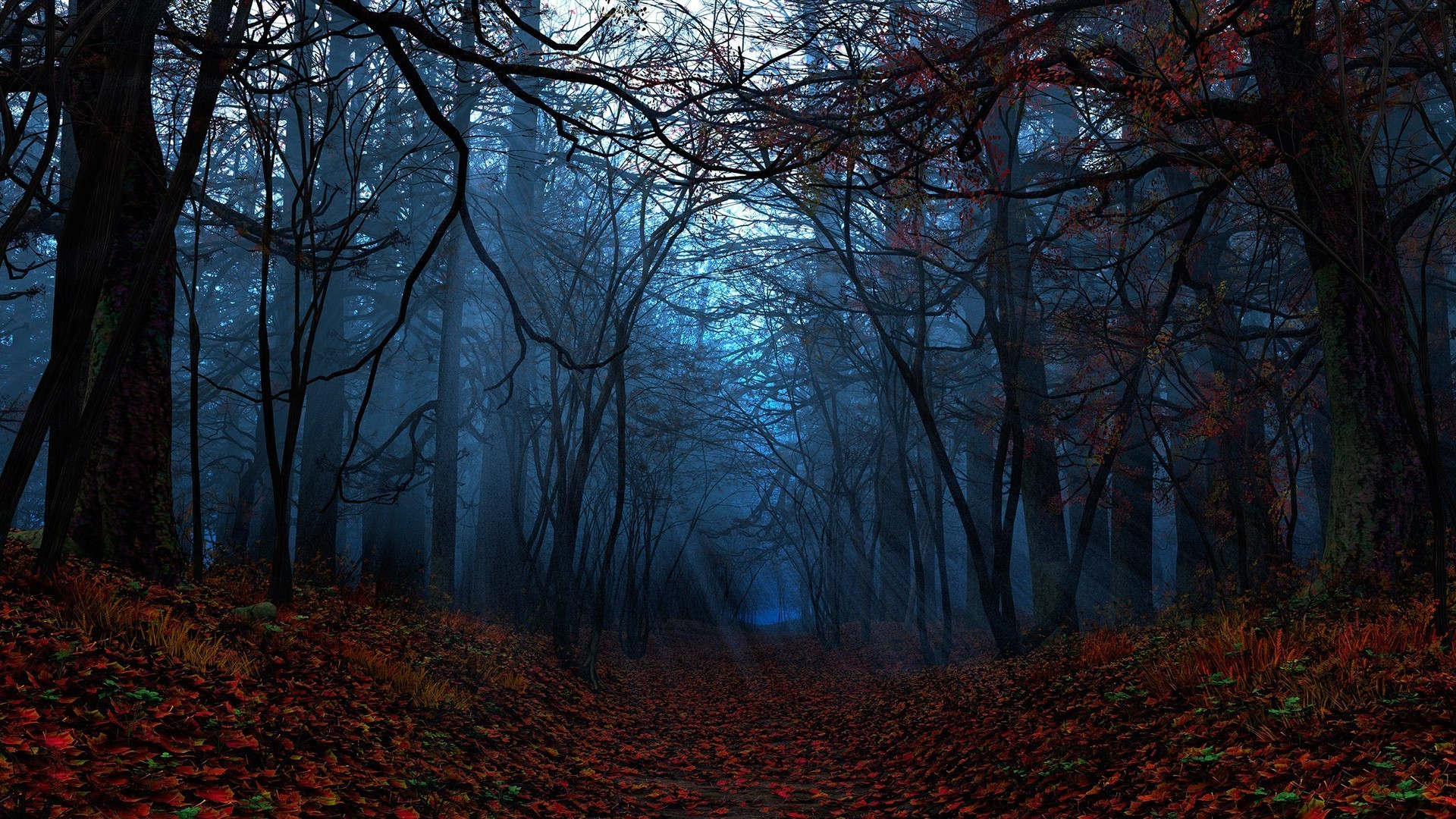 Autumn Forest Wallpaper Full Hd Dark Fall Wallpaper Hd 1920x1080 Download Hd Wallpaper Wallpapertip