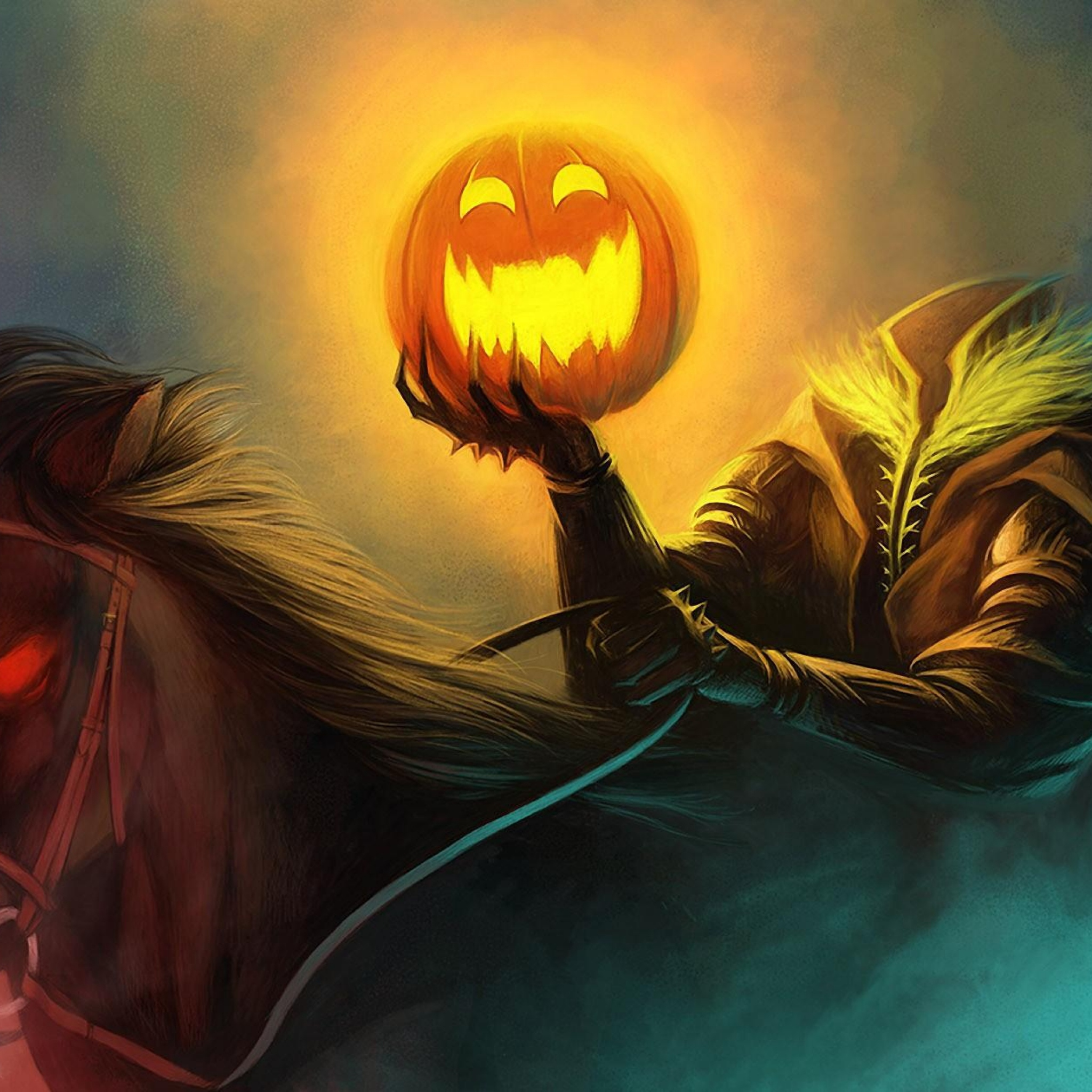 Headless Horseman With Pumpkin 2048x2048 Download Hd Wallpaper Wallpapertip