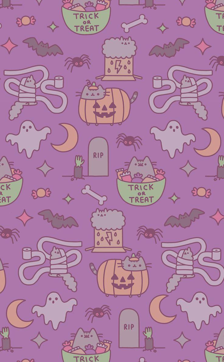 Fond D Halloween Mignon Fond D Ecran Kawaii Halloween 736x1189 Wallpapertip