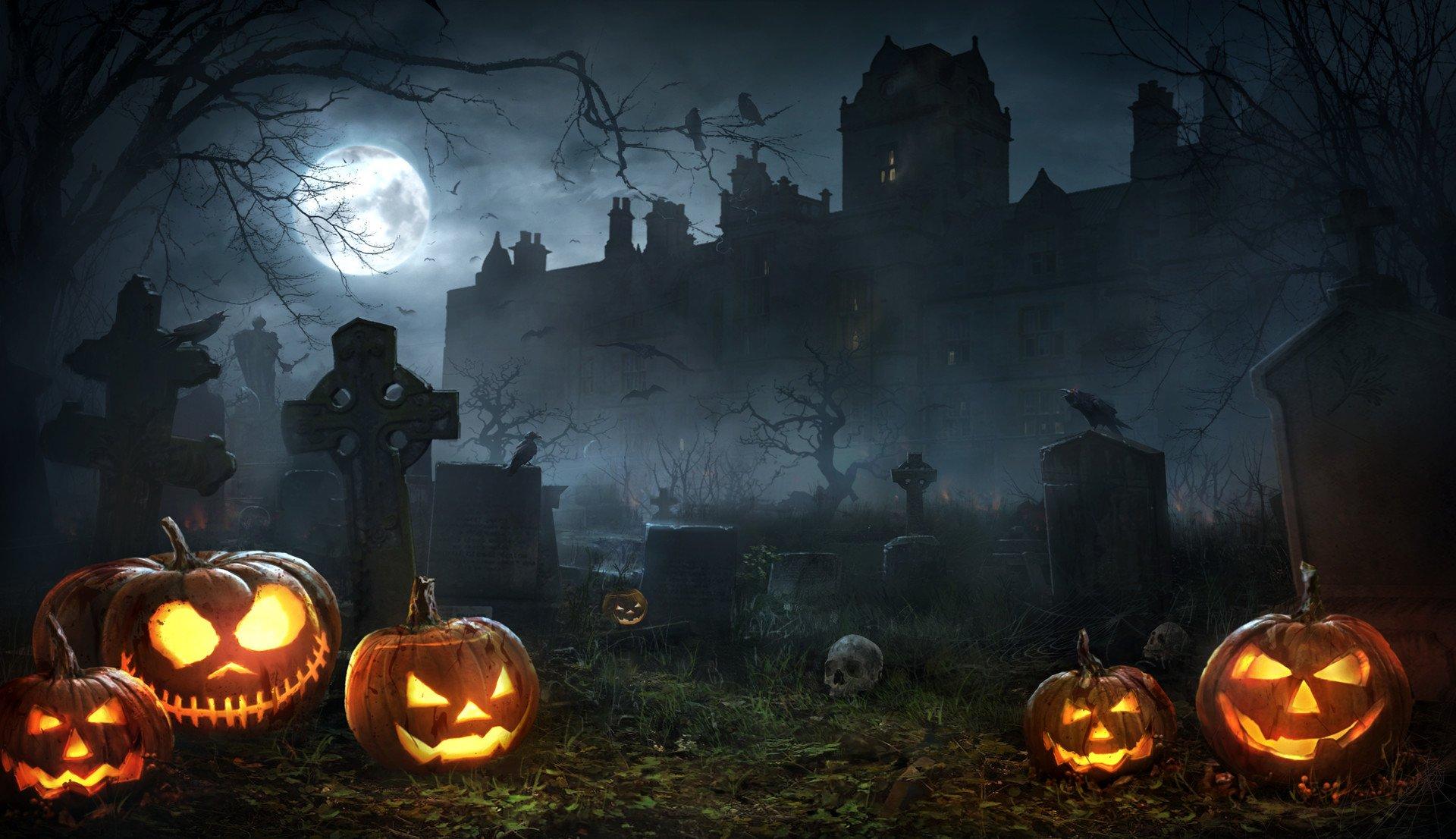 Halloween Wallpapers Hd-3 - Halloween Night Wallpaper Hd - 1920x1106 - Download HD Wallpaper - WallpaperTip
