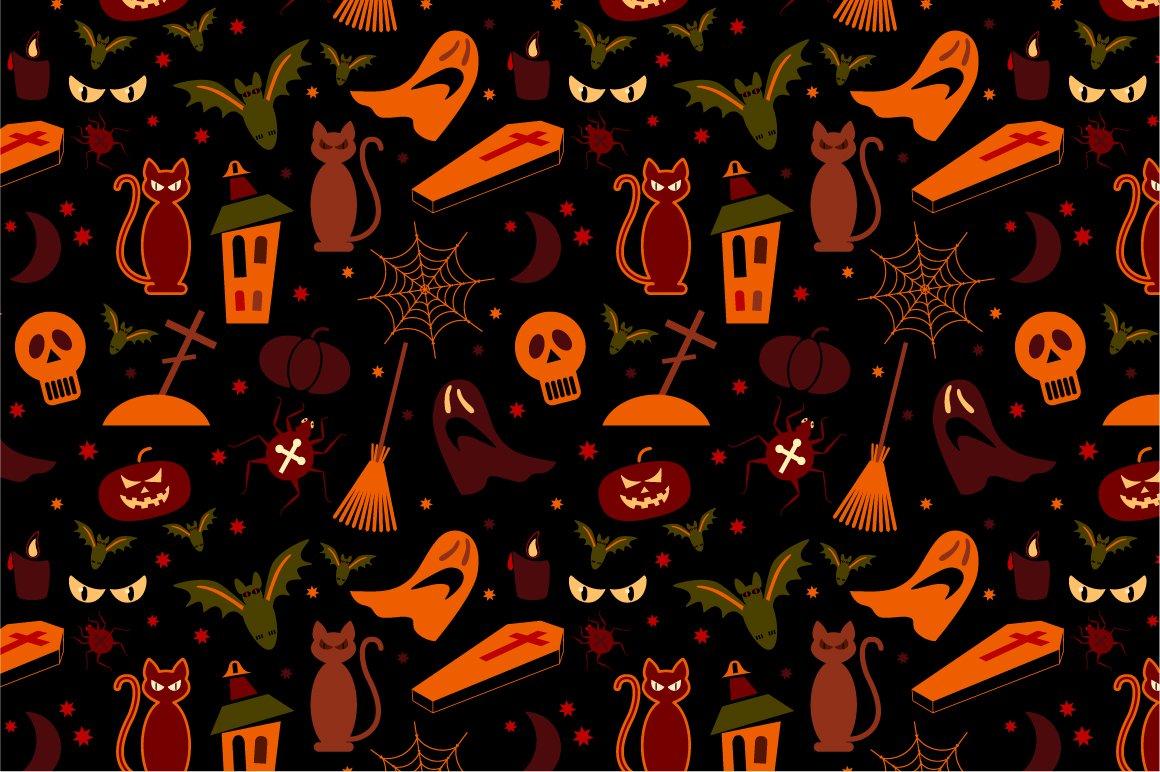 Halloween Pattern Wallpaper.Seamless Halloween Pattern 1160x772 Download Hd Wallpaper Wallpapertip