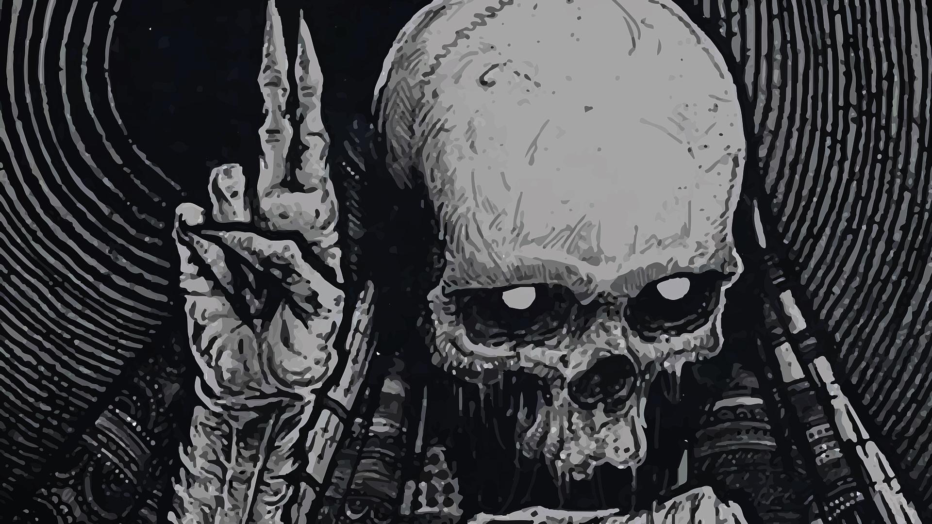 339963 Title Dark Skull Wallpaper Black Metal 1920x1080 Download Hd Wallpaper Wallpapertip