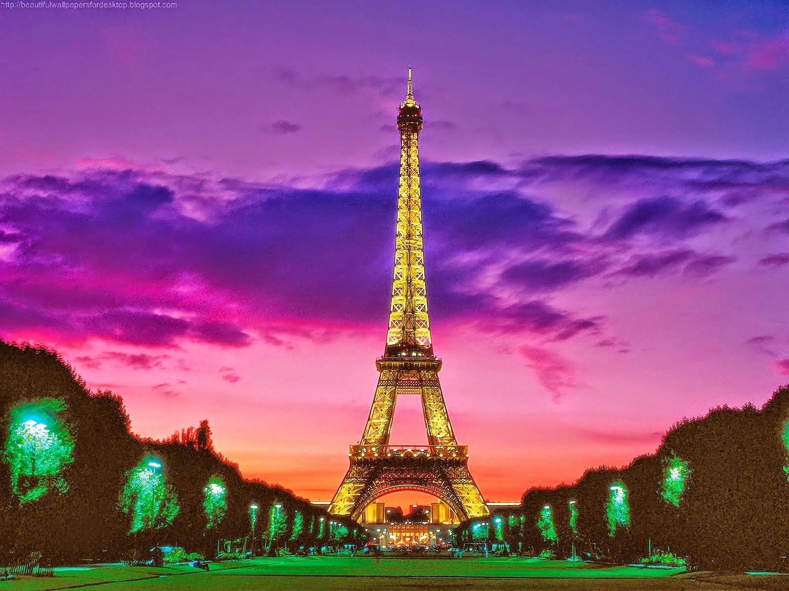 Sunset Eiffel Tower At Night 1600x1200 Download Hd Wallpaper Wallpapertip