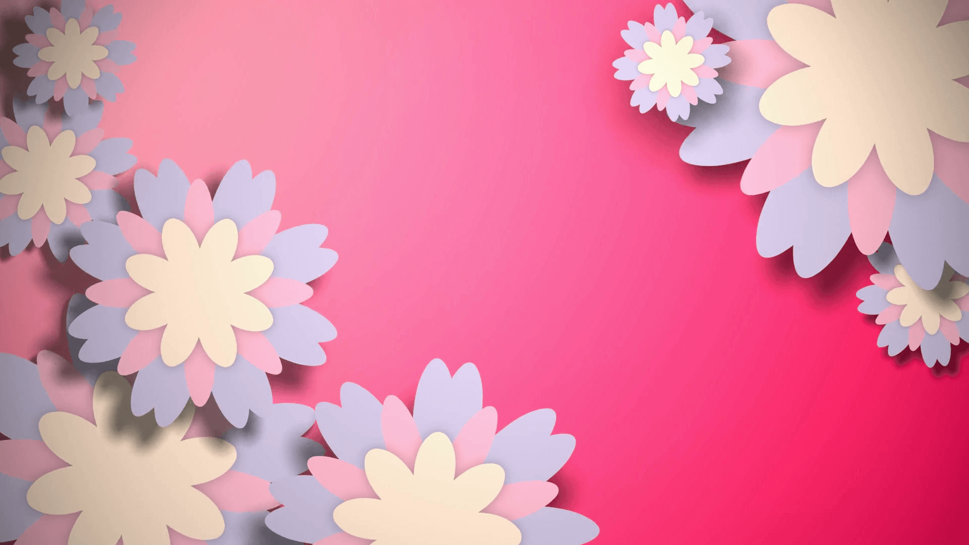 Animated Wallpaper With Pastel Color Flowers On Pink Pastel Colors Background Flowers 1920x1080 Download Hd Wallpaper Wallpapertip