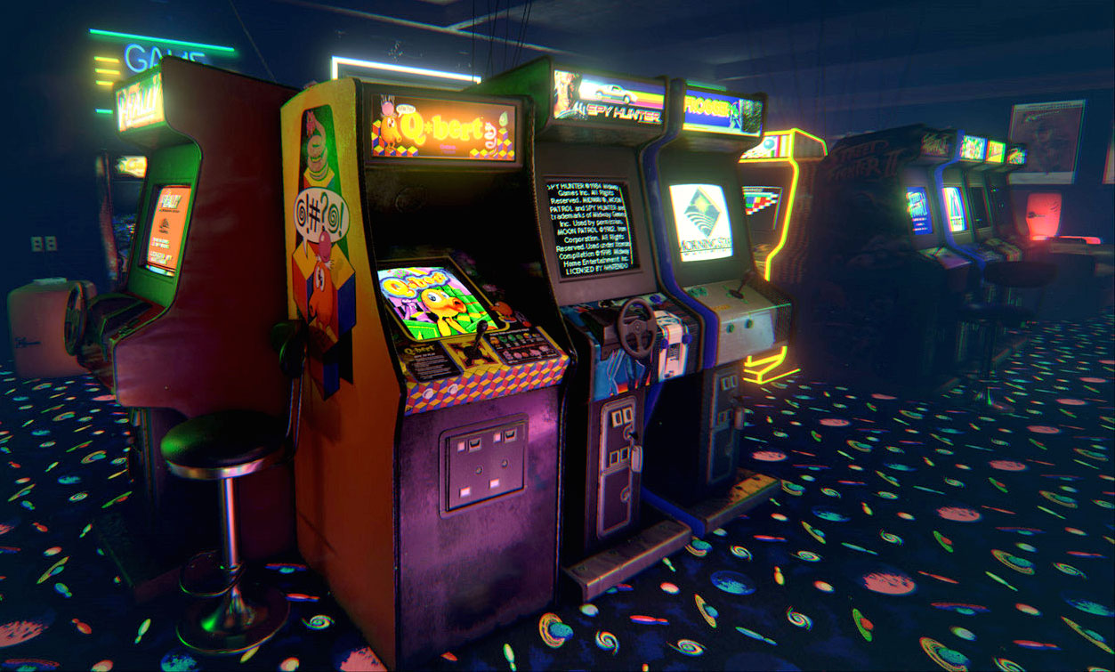 Classic Arcade Games 8 Bit Arcade Bar 1253x755 Download Hd Wallpaper Wallpapertip