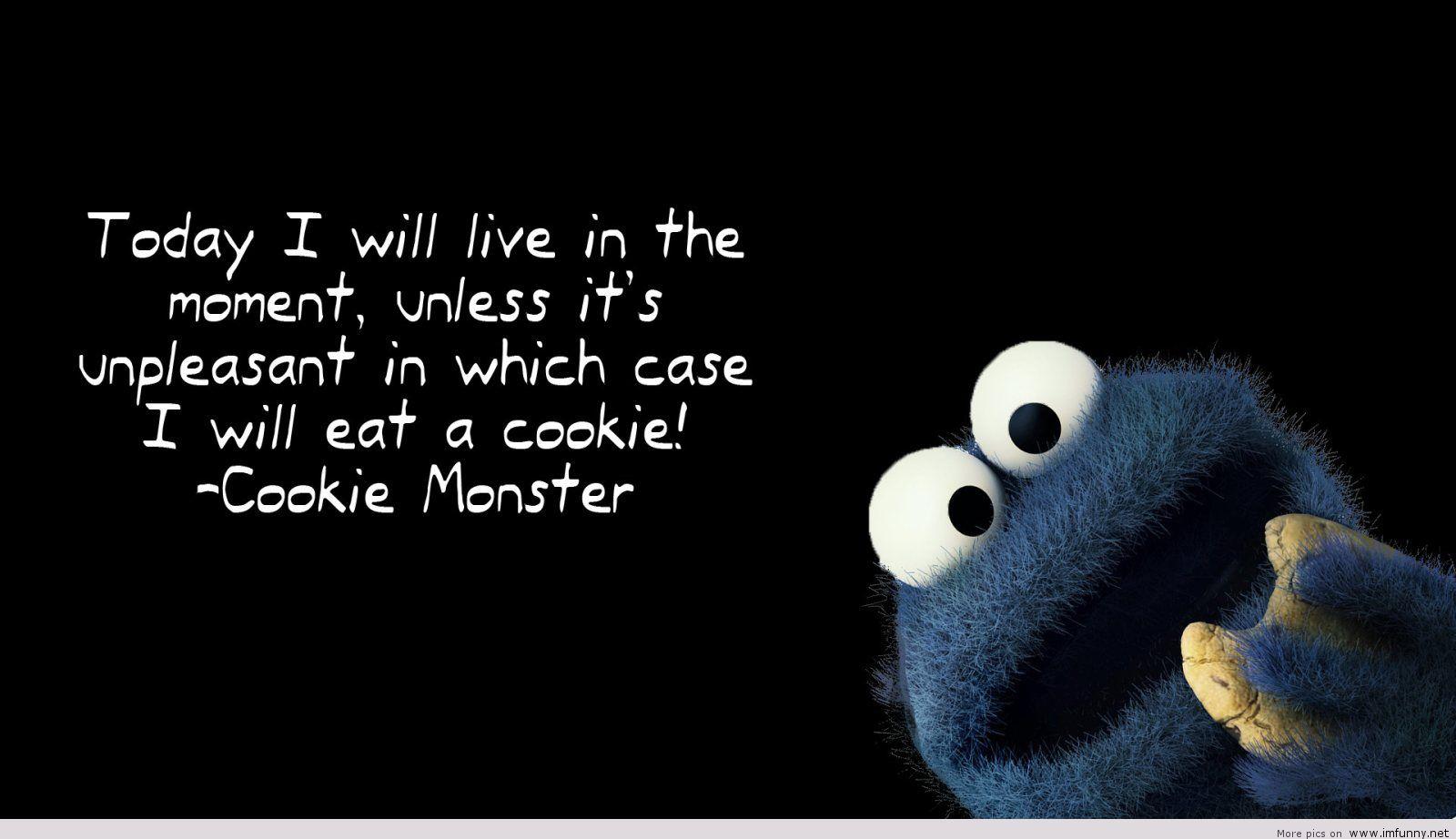 クッキーモンスターの名言 面白い引用壁紙hd 1600x922 Wallpapertip
