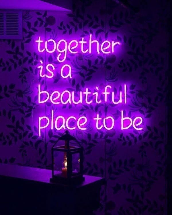Purple Neon Sign Aesthetic 600x749 Download Hd Wallpaper Wallpapertip