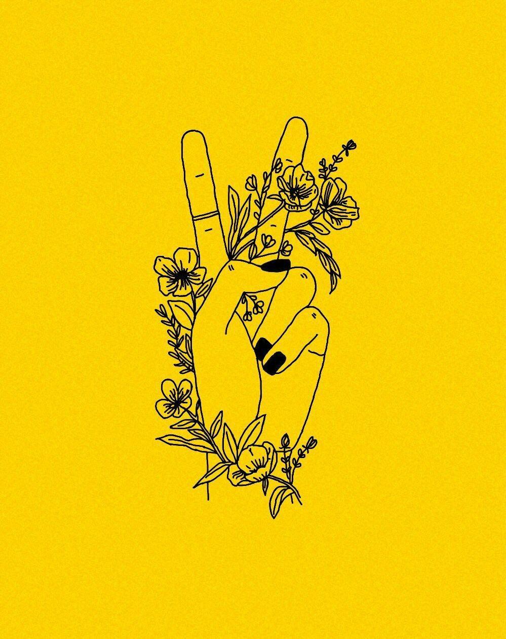 Artsy Yellow Aesthetic Art 749x946 Download Hd Wallpaper Wallpapertip