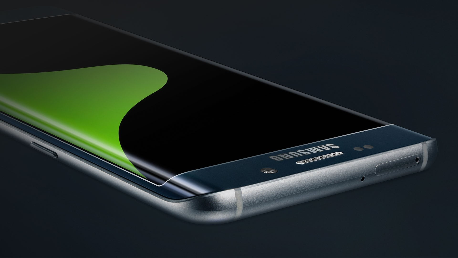 Black Sapphire Galaxy S6 Edge Plus Lying Face Up Smartphone 1920x1080 Download Hd Wallpaper Wallpapertip