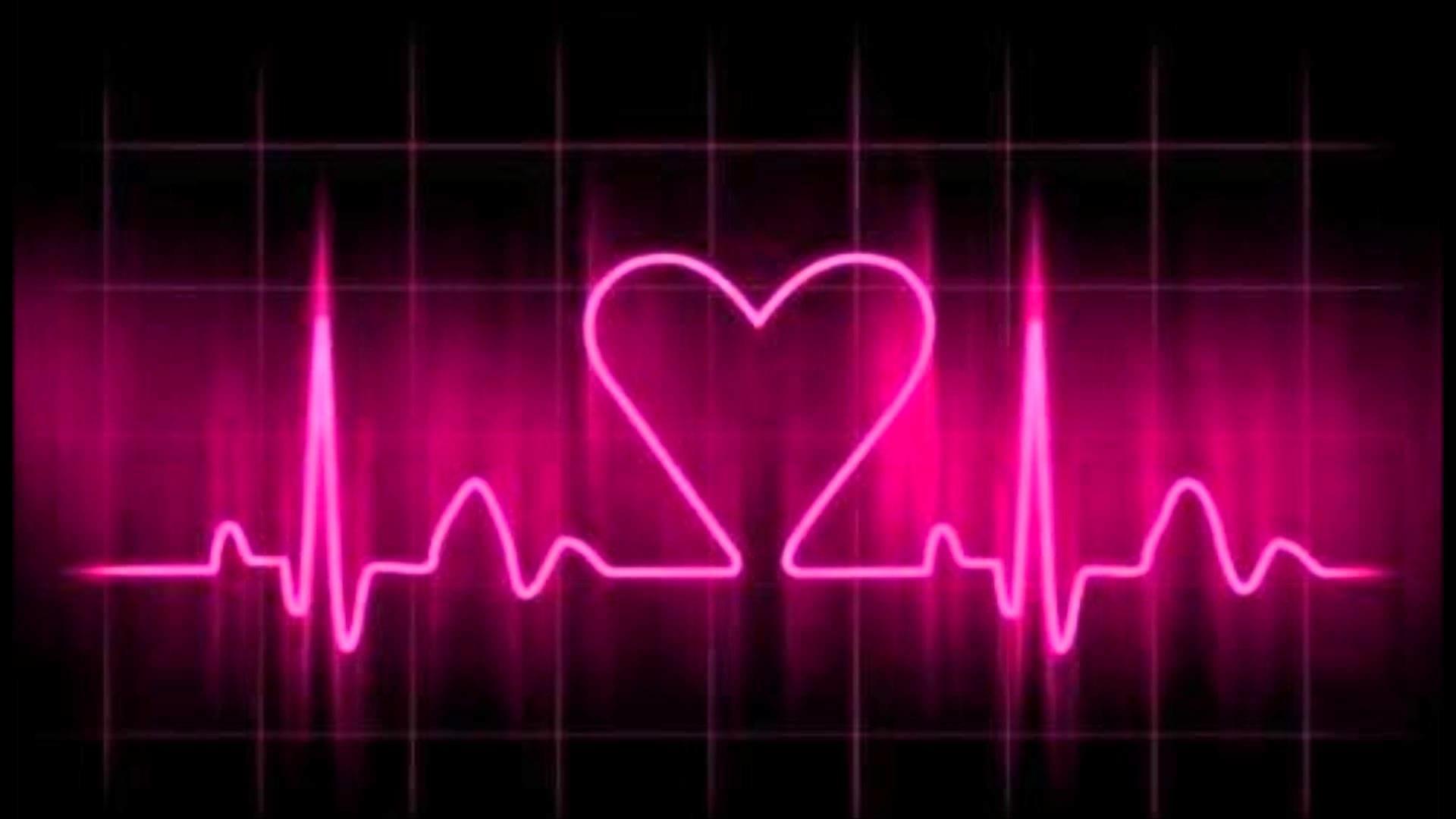 7 77380 heartbeat data src neon pink heart beat