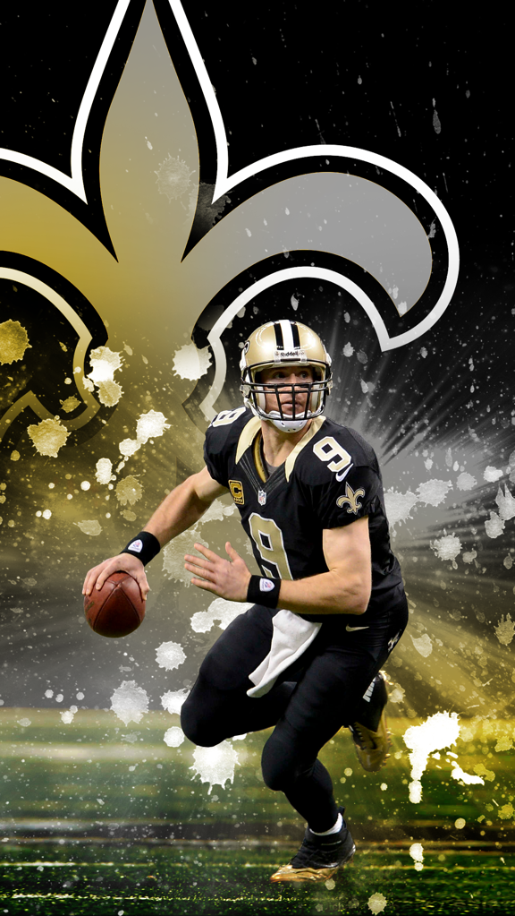Drew Brees Wallpaper 576x1023 Download Hd Wallpaper Wallpapertip