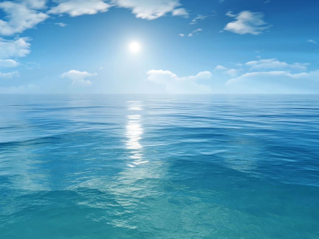 Ocean Et Fond De Ciel Fond D Ecran Mer Bleue 1024x768 Wallpapertip