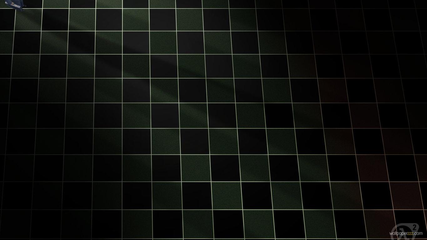 ブラックグリッドhd 黒グリッド壁紙 1366x768 Wallpapertip