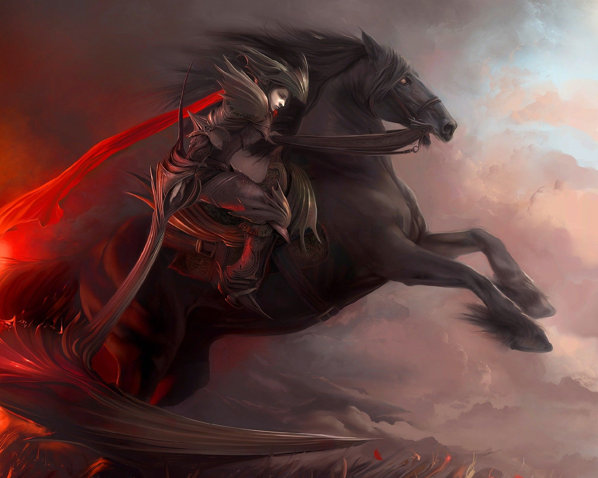 Fantasy War Horse Art 2000x1600 Download Hd Wallpaper Wallpapertip