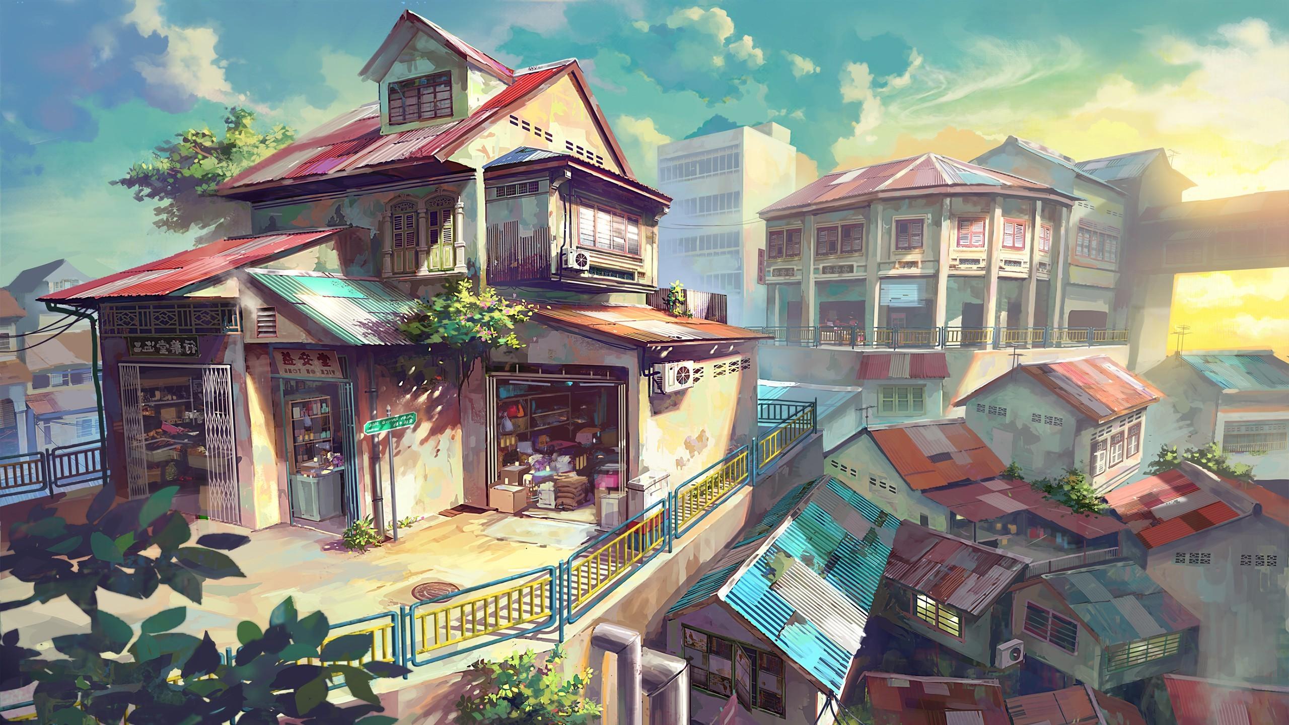 家壁紙アニメ 3d壁紙マレーシア 2560x1440 Wallpapertip