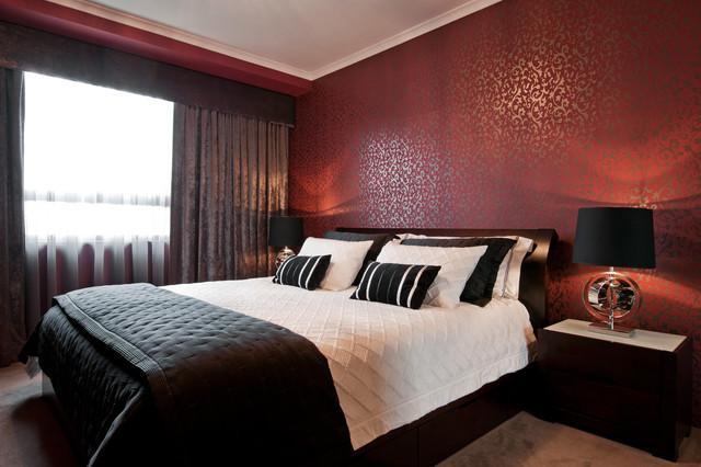 Red Wall Bedroom Design 640x426 Download Hd Wallpaper Wallpapertip