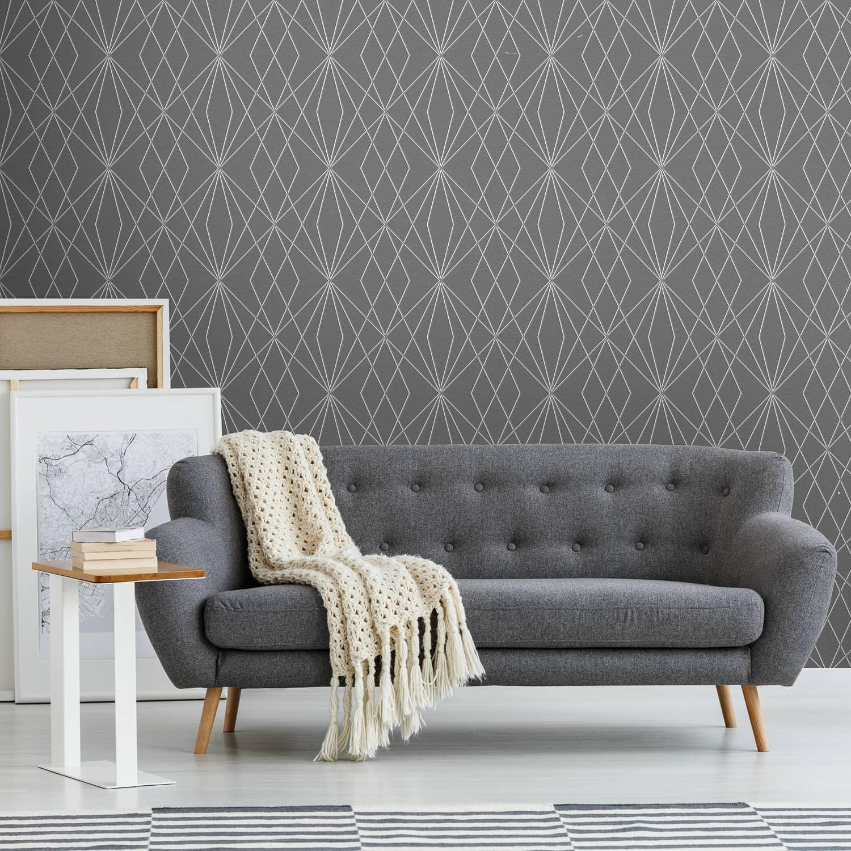 Laser Grey Silver Wallpaper Feature Wallpaper Living Room 1500x1500 Download Hd Wallpaper Wallpapertip
