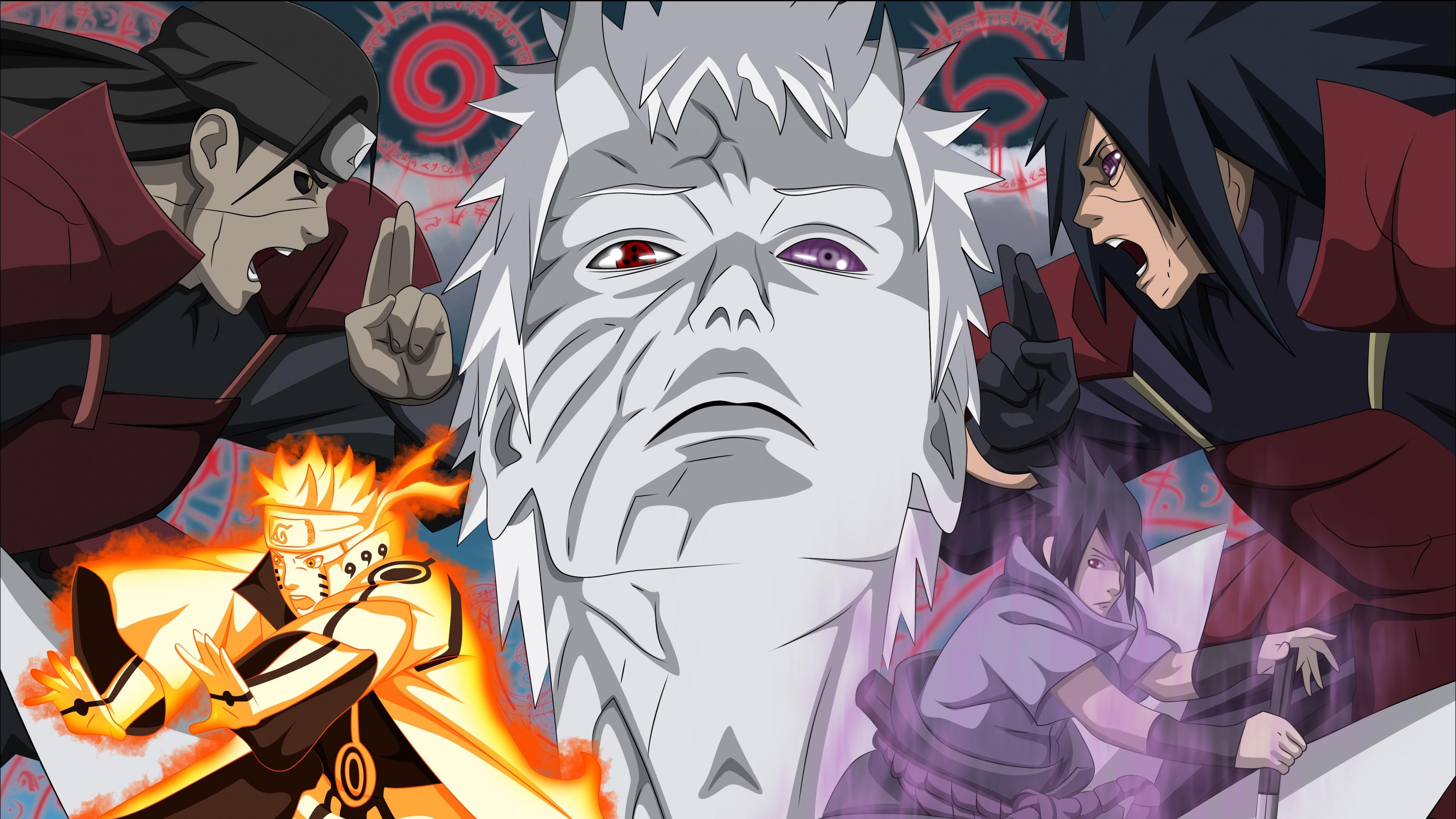 X Madara Uchiha Naruto Anime Obito Tobi Akatsuki Naruto Naruto Vs Madara 3840x2160 Download Hd Wallpaper Wallpapertip