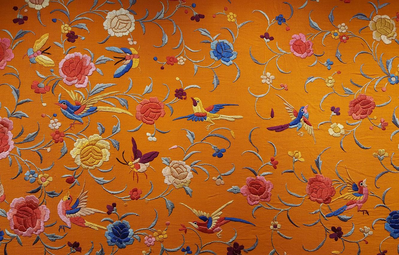 中国の壁紙のテクスチャ 刺繍壁紙 1332x850 Wallpapertip